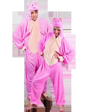 Schweinchen vom Bauernhof Kostüm für Erwachsene