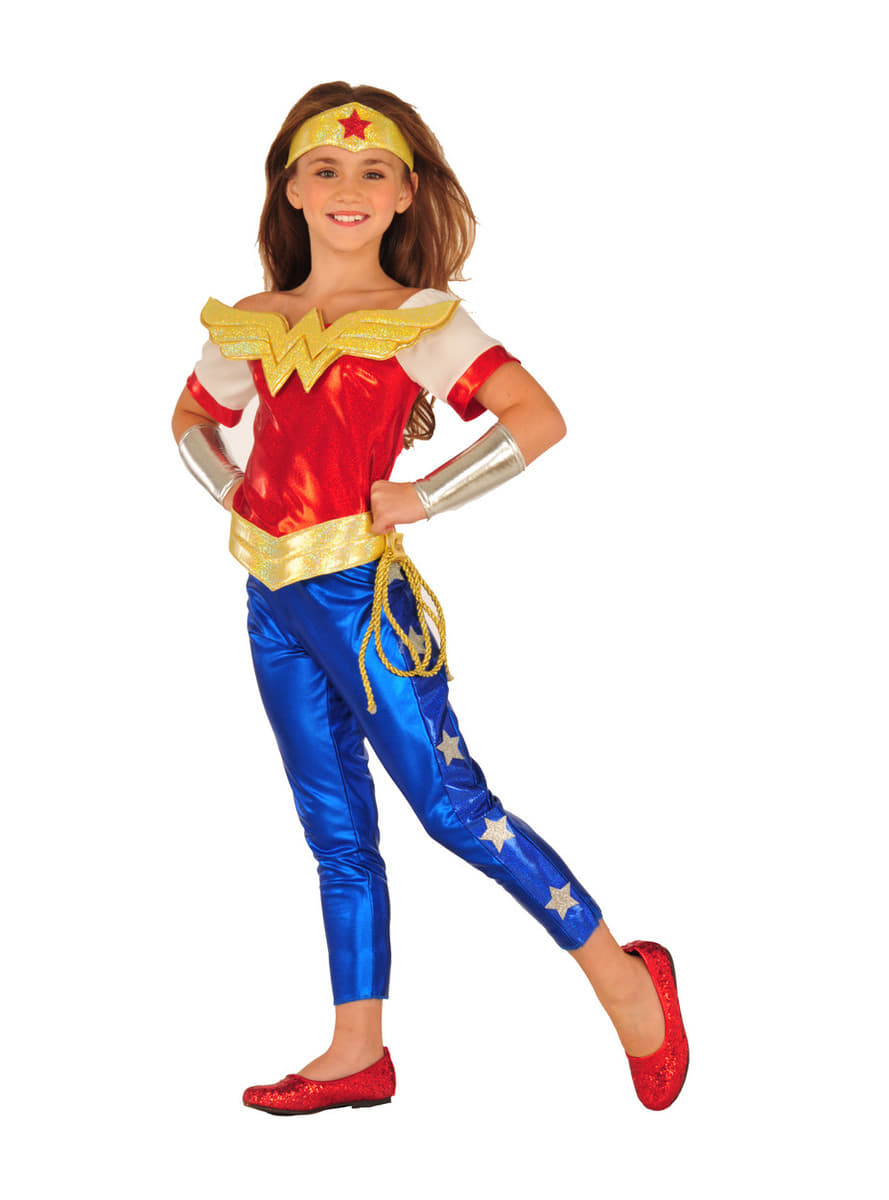 costume wonder woman dc super hero grils deluxe fille - Super Heros Fille