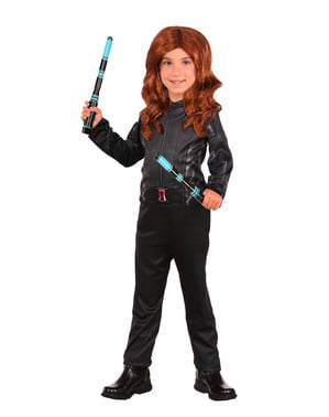 Captain America Civil War Black Widow classic kostume til piger