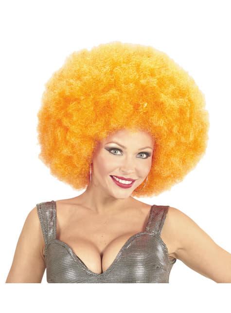 Deluxe Γιγαντιαία πορτοκαλί περούκα Afro