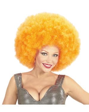 Perruque afro géante orange deluxe en sachet