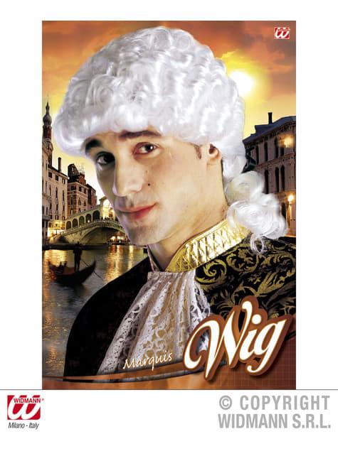 Peluca de marqués veneciano para hombre - para tu disfraz