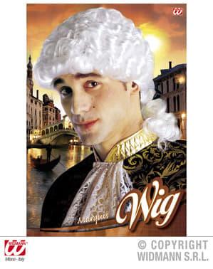 Venetiaanse pruik markies voor mannen