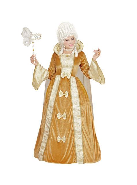 Disfraz de marquesa veneciana para mujer talla grande