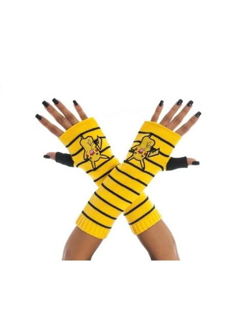 Guantes sin dedos de Pikachu para adulto