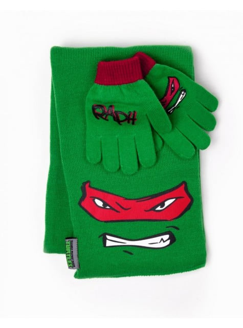 Kit bufanda y guantes Raphael Tortugas Ninja