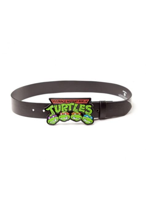 Cinto de Tartarugas Ninja TMNT preto para adulto