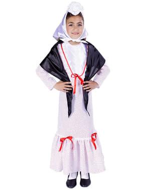 Costume da tipica madrilena da bambina