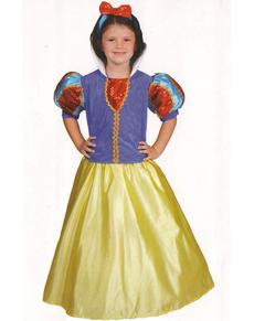 Dívčí kostým krásná Sněhurka