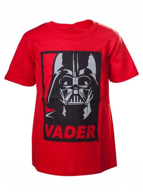 T-shirt de Darth Vader vermelha infantil - Star Wars