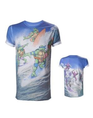 Maglietta delle Tartarughe Ninja che fanno surf