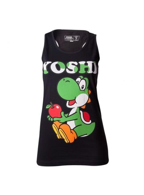 T-shirt Yoshi noir pour femme