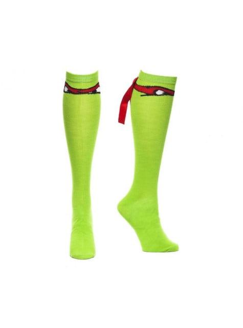 Calcetines de Raphael Tortugas Ninja altos para adulto
