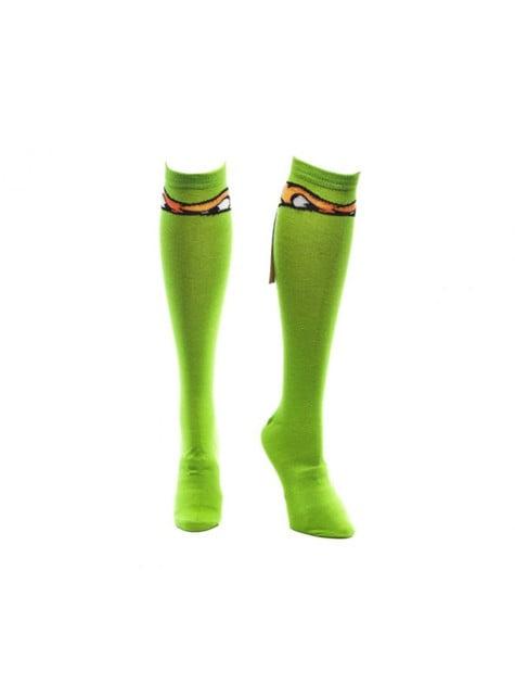 Michelangelo Teenage Mutant Ninja Turtles high socks for adults
