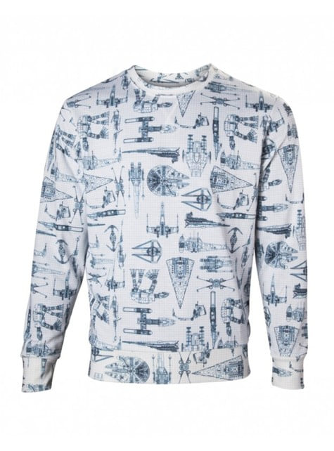 Sweatshirt de naves Star Wars para adulto