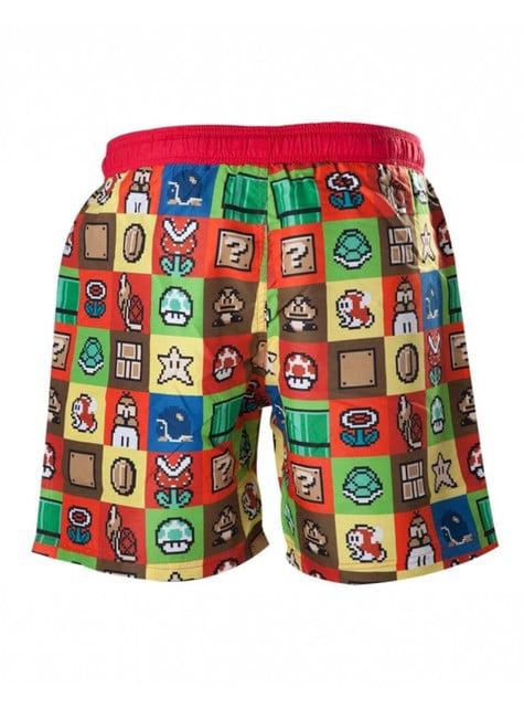 Super Mario Bros swimming trunks for men