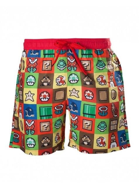 Calções de banho de Mario Bros para homem