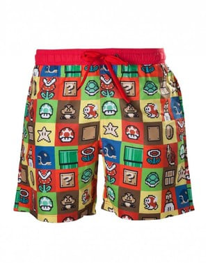 Super Mario Bros swimming trunks for men