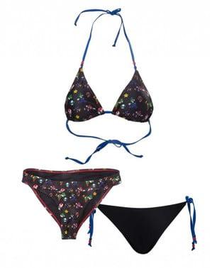 Kit bikini Mario Bros noir pour femme