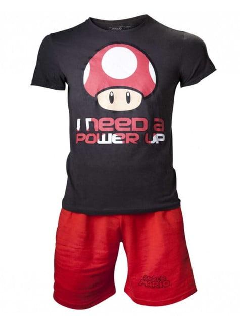 Pijama de Mario Bros 'I Need a Power Up' para homem