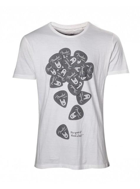 Camiseta de Fender blanca
