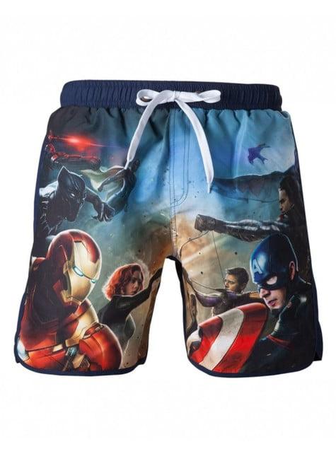 Captain America Civil War swimming trunks for men
