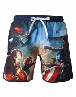 Bañador de Capitán América Civil War para hombre