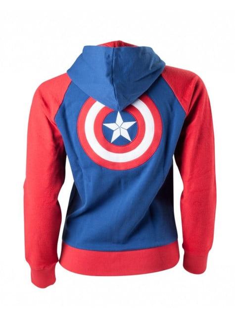 Sudadera de Capitán América para mujer