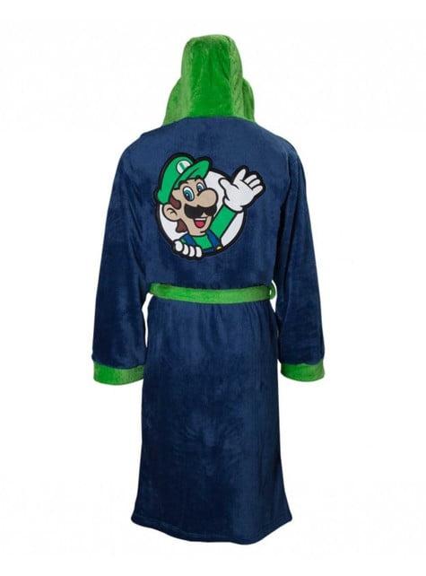 Szlafrok polarowy Luigi dla dorosłych - Super Mario Bros