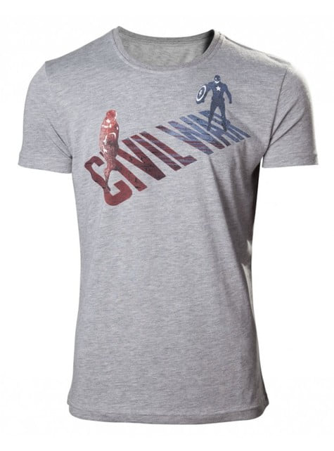 Grey Captain America Civil War t-shirt