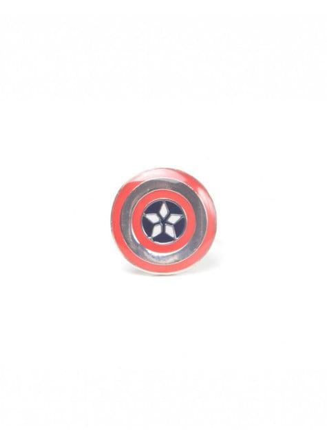 Anillo de escudo Capitán América para adulto