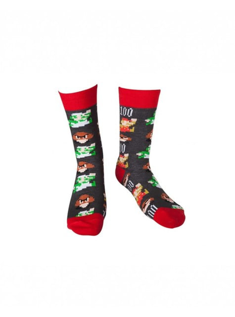 Super Mario Bros socks for adults
