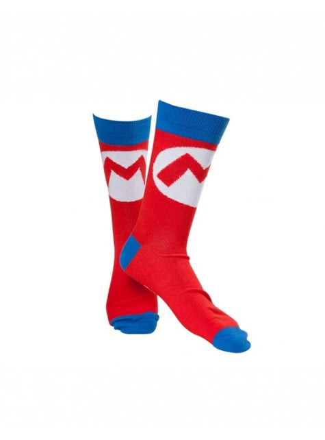 Red Super Mario Bros socks for adults
