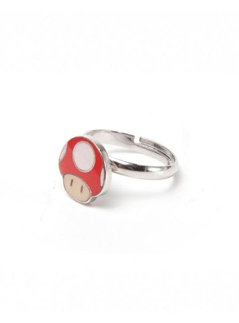 Mushroom Super Mario Bros ring for adults