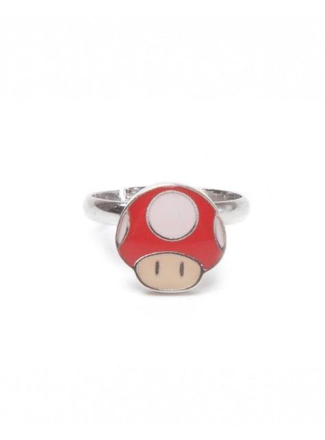 Anel de cogumelo Mario Bros para adulto