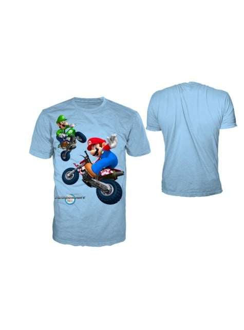 Blue Mario Kart t-shirt