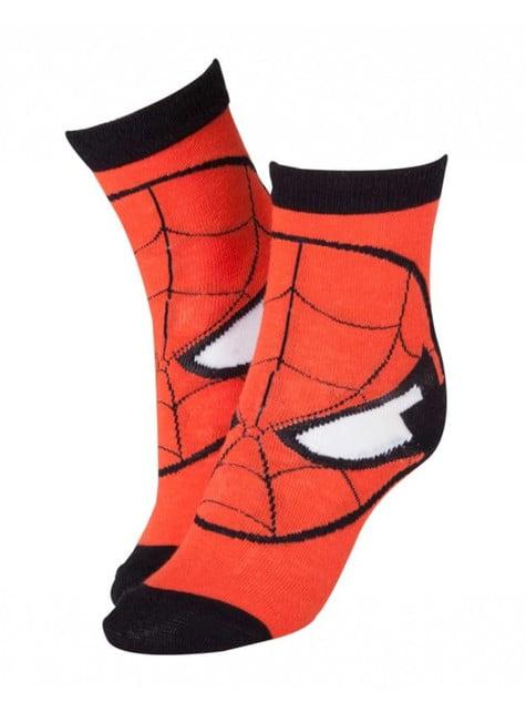 Chaussettes Spiderman rouges pour homme