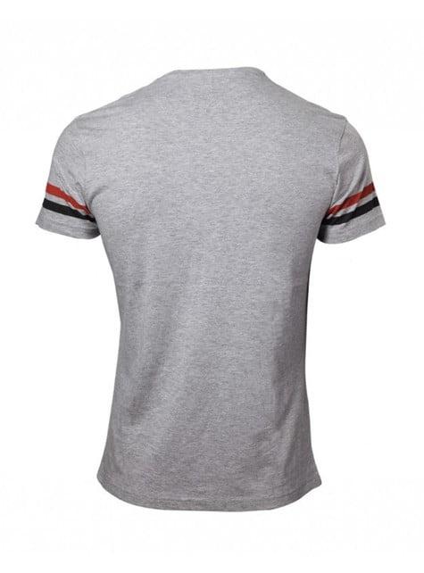 Camiseta de Mario Bros gris y negra