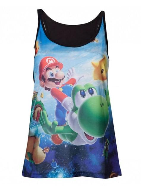 Super Mario Bros en Yoshi t-shirt voor vrouw