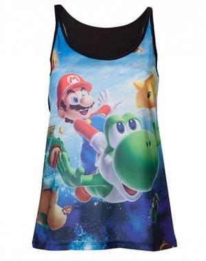 Camiseta de Mario Bros y Yoshi para mujer