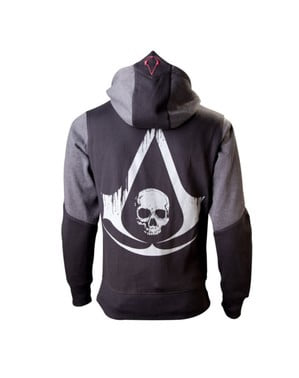 Sort Flag Assassin's Creed hoodie til voksne
