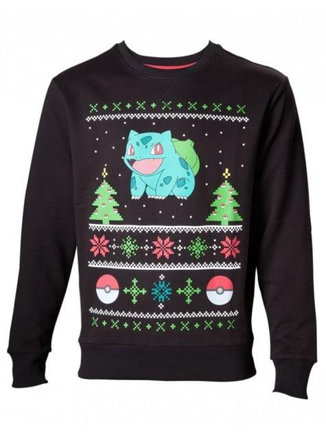 Sudadera de Bulbasaur navideña para adulto