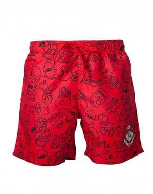 वयस्कों के लिए लाल सुपर मारियो ब्रोस सूट