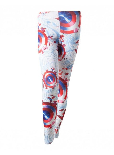 Leggings de Capitán América para mujer
