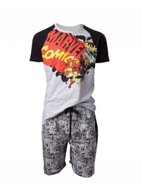 Pijama de Marvel banda desenhadas para homem