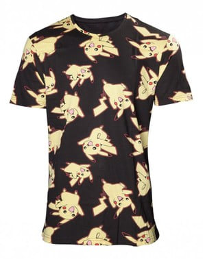 Maglietta di Pikachu nera