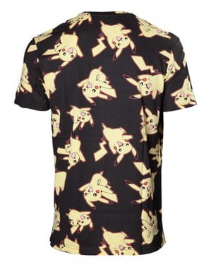 T-shirt de Pikachu preta