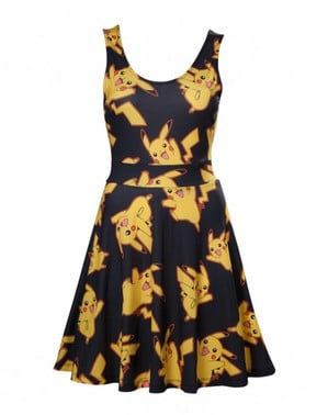 Vestido de Pikachu negro para mujer