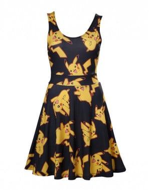 Vestido de Pikachu preto para mulher