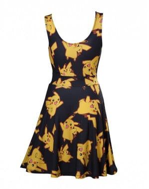Schwarzes Kleid Pikachu für Frauen
